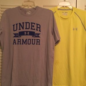 Under Armour Woman's M Lot of Two Crewneck Tees
